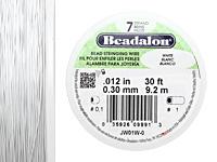 "Beadalon White .012"" 7 Strand Wire 30ft."