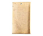 Nunn Design Antique Gold (plated) Flat Grande Rectangle Tag 21x37mm