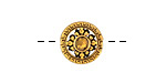 Antique Gold Finish Tibetan Style Coin Bead 13.5mm