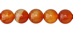 Carnelian (natural-orange) Round 10mm