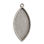 Nunn Design Antique Silver (plated) Navette Bezel Pendant 20x44mm