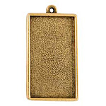 Nunn Design Antique Gold (plated) Grande Rectangle Bezel Pendant 46x25mm