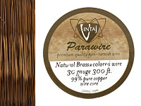 Vintaj Natural Brass Parawire 30 gauge, 180 feet