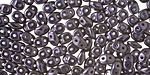 Dark Purple Metallic Suede Superduo 2x5mm Seed Bead
