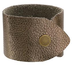 "The Lipstick Ranch Antique Bronze Leather Cuff Bracelet 1 7/8"" x 9"""