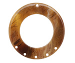 Zola Elements Caramel Bullhorn Acetate Donut Chandelier 38mm