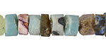 Multi Gemstone (Amazonite, Lapis, Rose Quartz, Fluorite) Rough Heishi 4-10x9-15mm