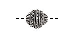 Greek Pewter Mountains & Rivers Bead 16x13mm