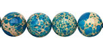 Ocean Blue Impression Jasper Round 12mm