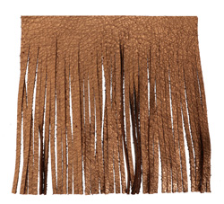 Antiqued Copper Leather Tassel Fringe 5 inch square