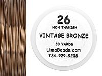 Parawire Vintage Bronze 26 Gauge, 30 Yards