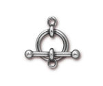 "TierraCast Bright Antique Pewter (plated) 5/8"" Anna Toggle Clasp 21-16mm, 26mm bar"
