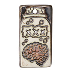 Earthenwood Studio Ceramic Brain in a Jar Pendant 24x43mm