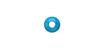 Tagua Nut Turquoise Large Hole Rondelle 3x8mm
