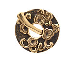Saki Bronze Sakura Toggle Clasp 33mm, 31mm bar