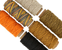 Carrot Cake Hemp Twine 20 lb, 29.5 ft x 6 colors