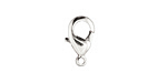 Silver (plated) Lobster Clasp 15x9mm