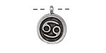 Greek Pewter Cancer Pendant 15x18mm
