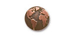 TierraCast Antique Copper (plated) Earth Button 16mm