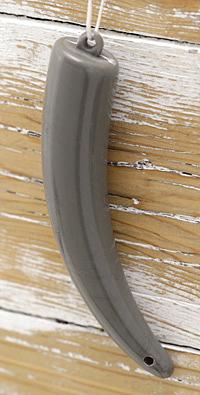 Concrete Acrylic Tusk Pendant 19x101mm