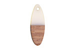 Wood & Alabaster Resin Oval Focal 10x28mm