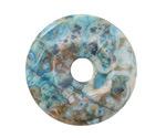 Larimar Blue Crazy Lace Agate Donut 40mm