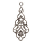 Antique Silver (plated) Tiered Boho Drop 18x41mm