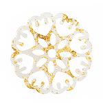 Gold Foil Acetate Floral Openwork Mandala Focal 40mm