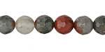 African Bloodstone Faceted Round 8mm