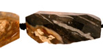 Black Petrified Wood Faceted Freeform Nugget 28-38x16-24mm