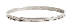 Nunn Design Antique Silver (plated) 3mm Channel Bangle Bracelet 70mm