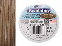 "Beadalon Bronze .015"" 49 Strand Wire 30ft."