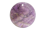 Dogtooth Amethyst Thin Coin Pendant 30mm