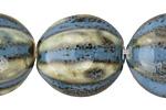 Alice Blue w/ Speckles Porcelain Melon 27x24mm