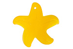 Marbled Saffron Recycled Glass Starfish 32mm