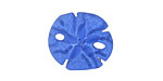 Royal Blue Recycled Glass Sand Dollar 20mm