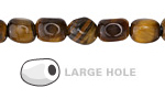 Tiger Eye Nugget (Large Hole) 10x8mm