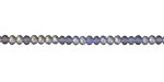 Matte Light Sapphire AB Crystal Faceted Rondelle 2mm