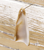Latte Acrylic Shell Drop 15x35mm