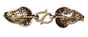 Saki Bronze Wavy Leaf S Hook Clasp 54x15mm