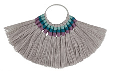 Zola Elements Twilight Fanned Tassel on Ring w/ Silver Finish 89x50mm
