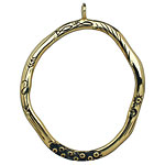 Saki Bronze Organic Loop Pendant 39x49mm