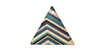 Zig-Zag Etched & Printed Gold Finish Triangle Focal 22x19mm