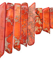 Tomato Red Impression Jasper Graduated Stick 8-10x12-54mm