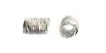 Nunn Design Antique Silver (plated) Leaf Barrel 12x7.5mm