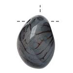 Tagua Nut Stonewashed Nugget (3-hole) 22-30x37-42mm