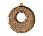 Nunn Design Antique Gold (plated) Grande Circle Bezel Toggle 37x32mm