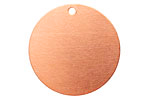 Copper Circle Blank Tag 31mm