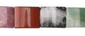 Multi Gemstone (Red & Green Aventurine, Rose Quartz, Rhodonite, Tiger Eye) Thin Pillow 18x15mm