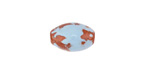 Greek Pueblo Ceramic Arctic Blue Rice Bead 15-16x10-11mm